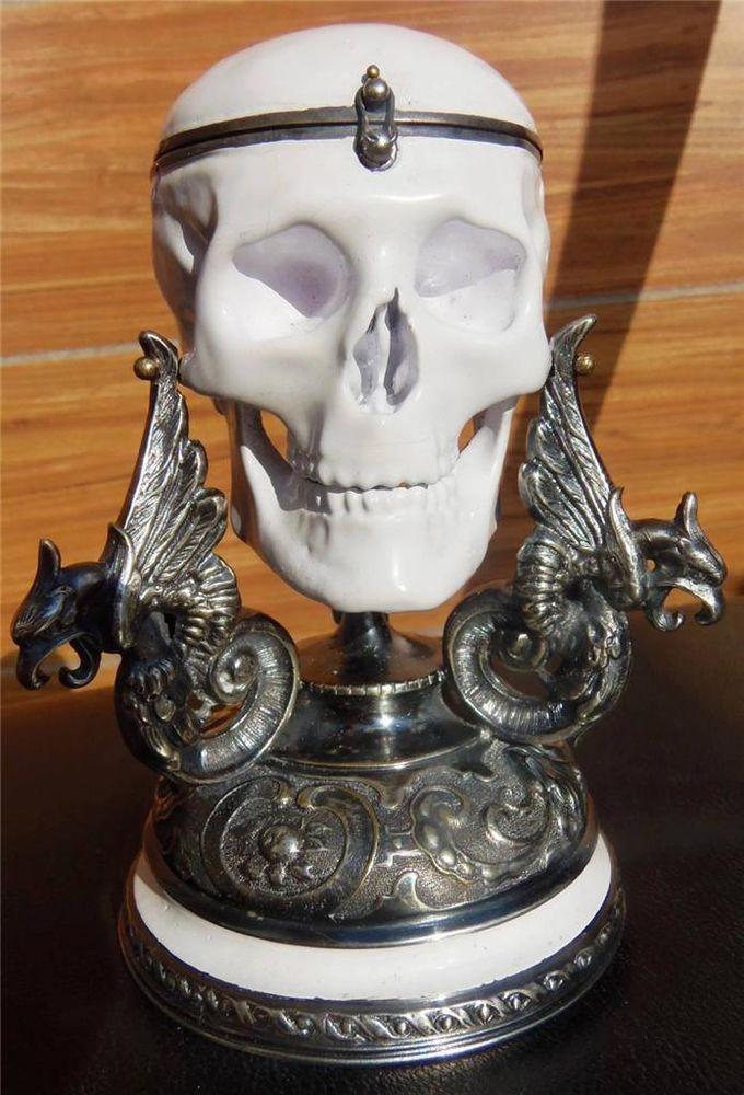 silvered & enamel Verge Fusee Calendar Skull table watch.1800