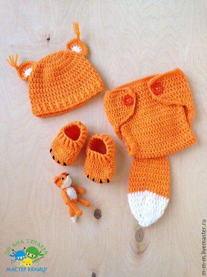 """Clothes set for newborn / Для новорожденных, ручной работы. Ярмарка Мастеров - ручная работа. Купить Костюмчик """"Лисичка"""" с игрушкой , ручная работа. Handmade. Оранжевый"""