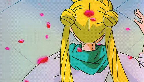 Such a cutie Usagi-chan/Sailor Moon in Sailor Moon R The movie:Promise of the rose♥♥♥