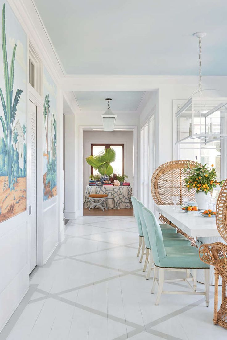 Island-Inspired Dining Room