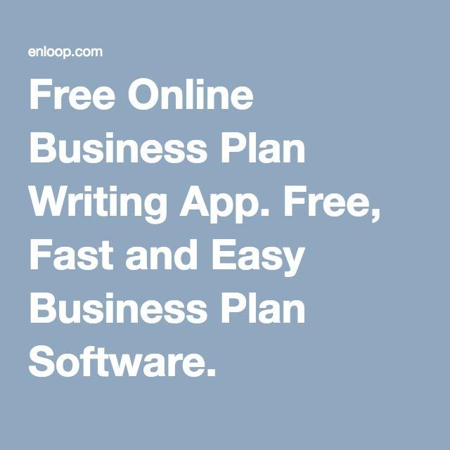 Free Online Business Plan Writing App Free, Fast - Enloop