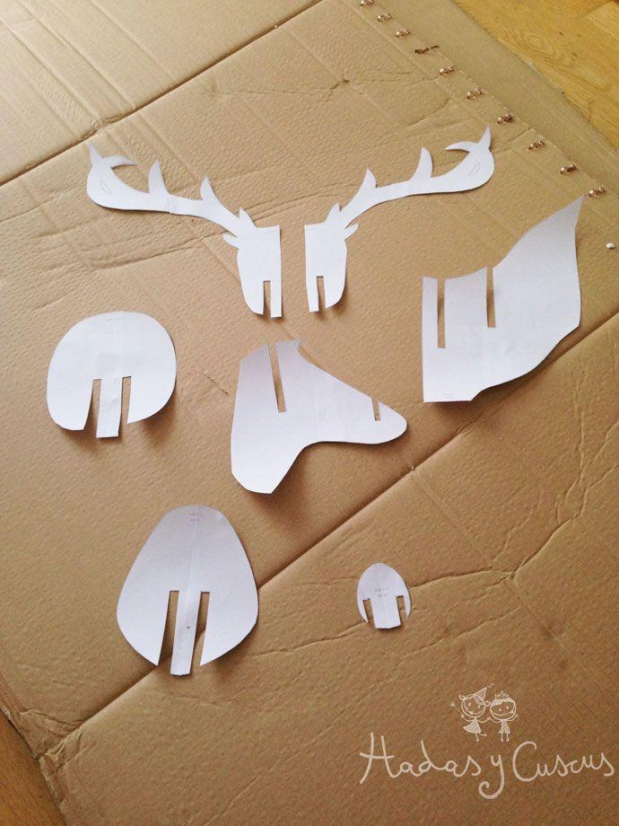 Principales 25 ideas incre bles sobre cabezas de ciervo de cart n en pinterest kirigami y cnc - Cabeza ciervo carton ...