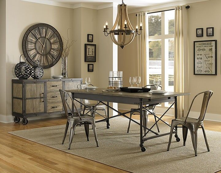Ordinary Industrial Dining Room Sets Part - 13: Best 25+ Industrial Dining Sets Ideas On Pinterest | Kitchen Table With  Bench, Dining Bench And Farmhouse Dining Set