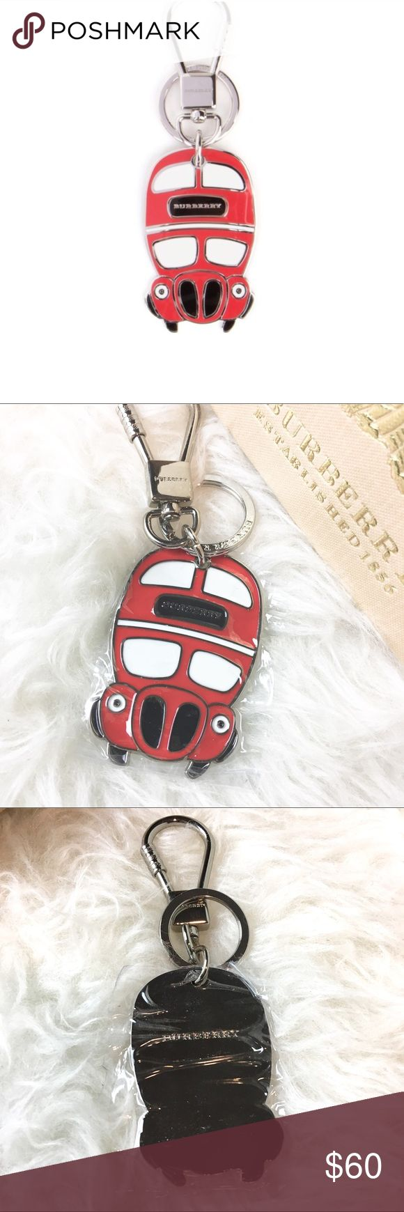 Burberry Keychain Double Decker Bus PRICE FIRM!! NO LOWBALLERS! New without tag. Burberry double decker bus from London. Adorable design! Place it in your bag or keys. Includes box. Burberry Accessories Key & Card Holders