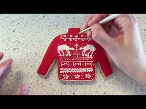 Learn how to make Star Wars AT-AT ugly christmas sweater cookies just in time for Episode VII: The Force Awakens.