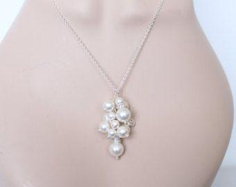 Gargantilla cadena de boda damas de honor de novia regalo gargantilla collar de Dama de honor aniversario regalo joyería del regalo para su joyería de la boda