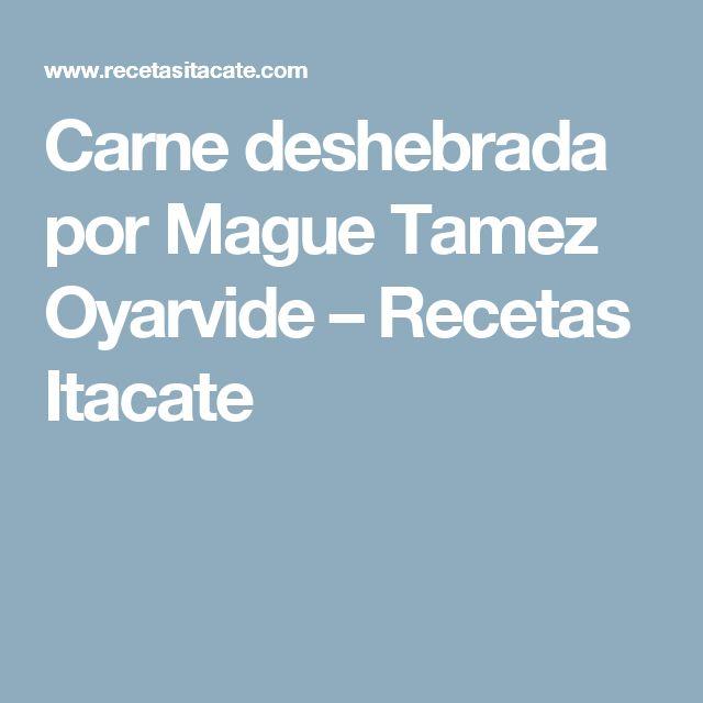 Carne deshebrada por Mague Tamez Oyarvide – Recetas Itacate