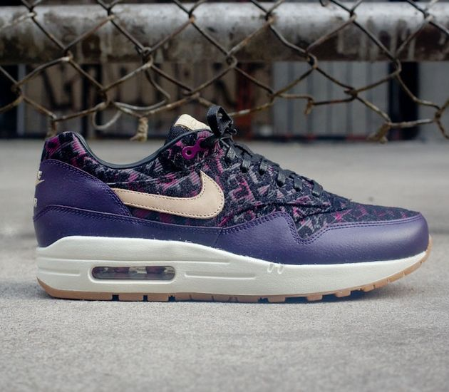 Nike Air Max Wmns 1 Lin Anthracite Violet Chemise Dynastie