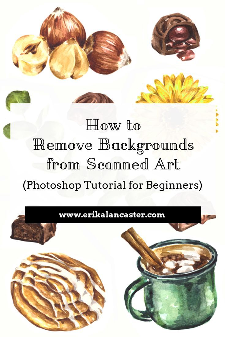 How to Remove Backgrounds from Scanned Art for