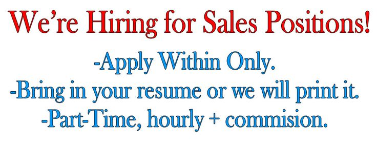 Jasen's Fine Furniture is hiring for sales positions! https://jasensfinefurniture.com/
