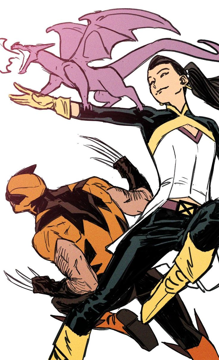 Wolverine and Kitty Pryde by Kris Anka (design by Chris Samnee) *