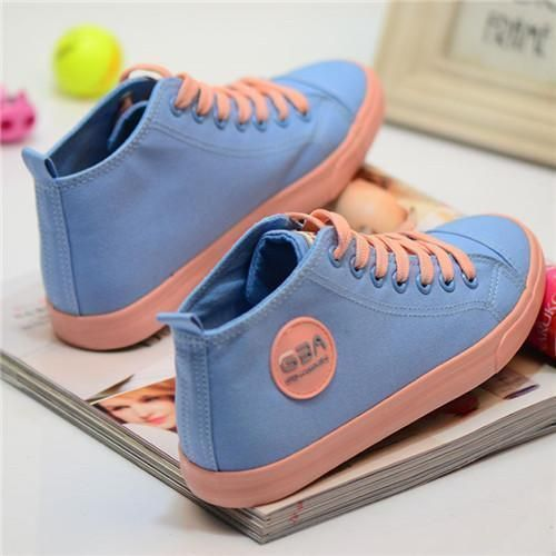 Canvas Shoes For Women, Lace-Up Canvas Shoes, Women Sneakers