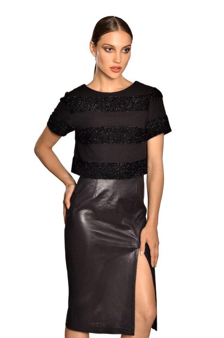 Leather skirt