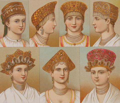 Russian Hats I #EuropeanArt