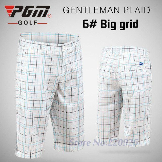 PGM Men Golf Plaid Shorts Thin Breathable Wicking Quick Dry XXXL