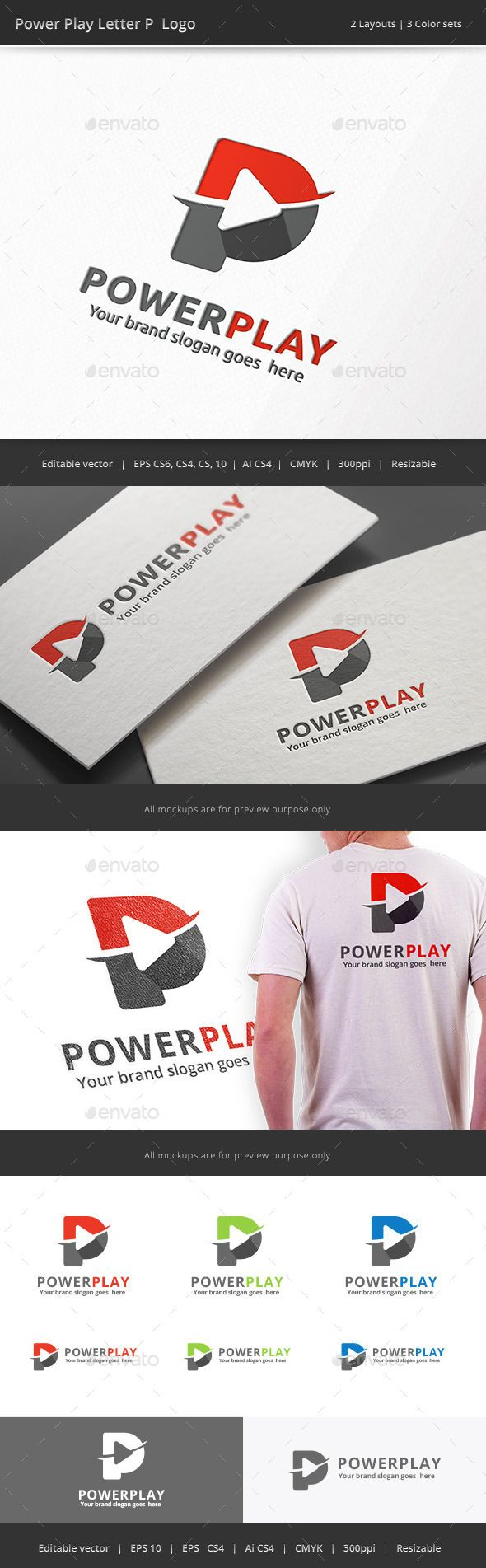 Power Play Letter P - Logo Design Template Vector #logotype Download it here: http://graphicriver.net/item/power-play-letter-p-logo/11616228?s_rank=552?ref=nexion