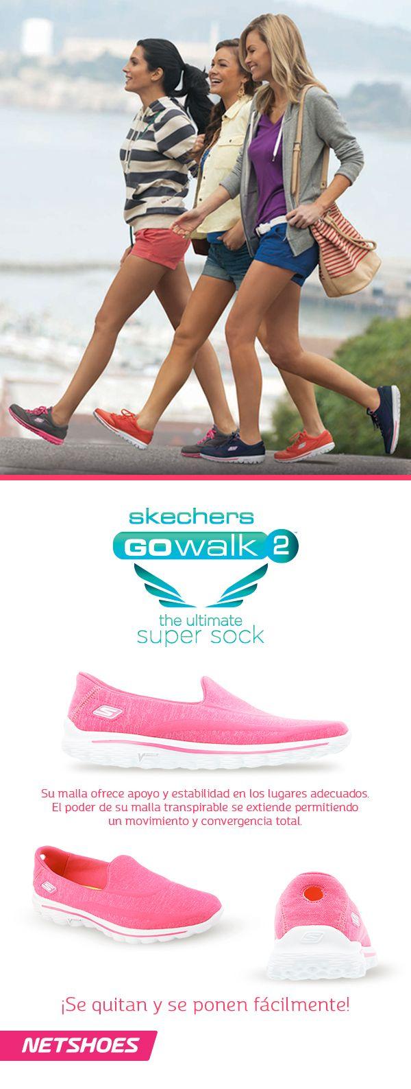 El nuevo Calzado Skechers Square posee el toque fresco que toda chica busca para mantenerse a la moda.