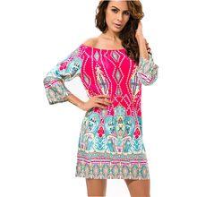 Мода Европейский Стиль Халат Dress Цветок Печати Женской Одежды Vestidos Случайный Богемный Женский Пляж Летом Ночной Клуб Party Dress(China (Mainland))