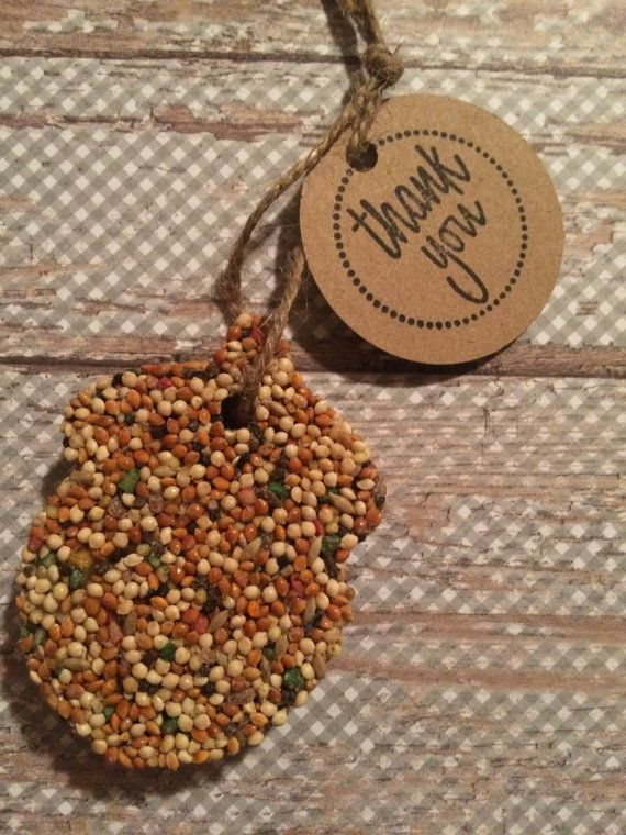 Cute Christmas ornaments. Acorn Bird Seed Favors 50 by KariFlo on Etsy