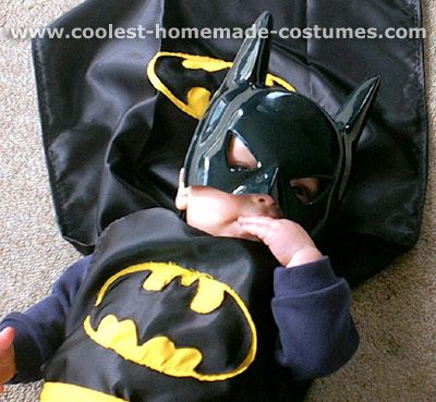 Homemade kid batman costume