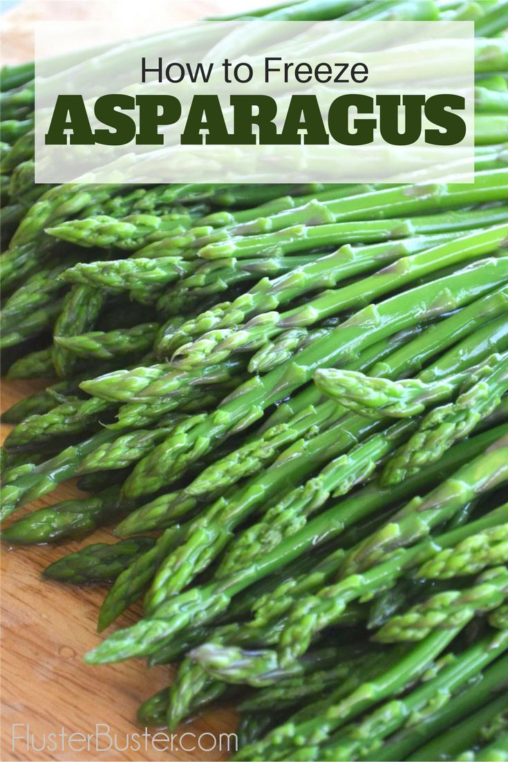 Asparagus Is At Its Peak In April, Freezing Is A Really Simple Way To Take