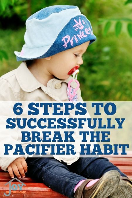 6 Steps to Successfully Break the Pacifier Habit - Prolonging the use of a pacifier will make it harder to break, but these steps will make it easier. | www.joyinthehome.com