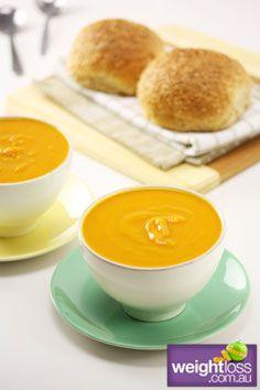 Healthy Dinner Recipes: Butternut Pumpkin Soup. #HealthyRecipes #DietRecipes #WeightlossRecipes weightloss.com.au