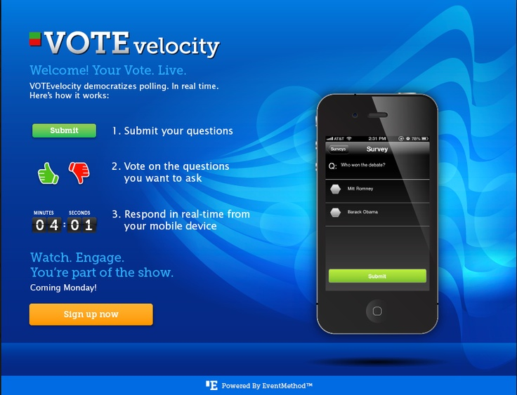 Check It out for tonights debate!  http://www.votevelocity.com/