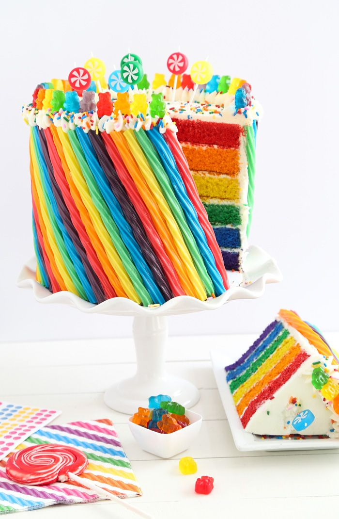 Rainbow Candy Cake Recipe