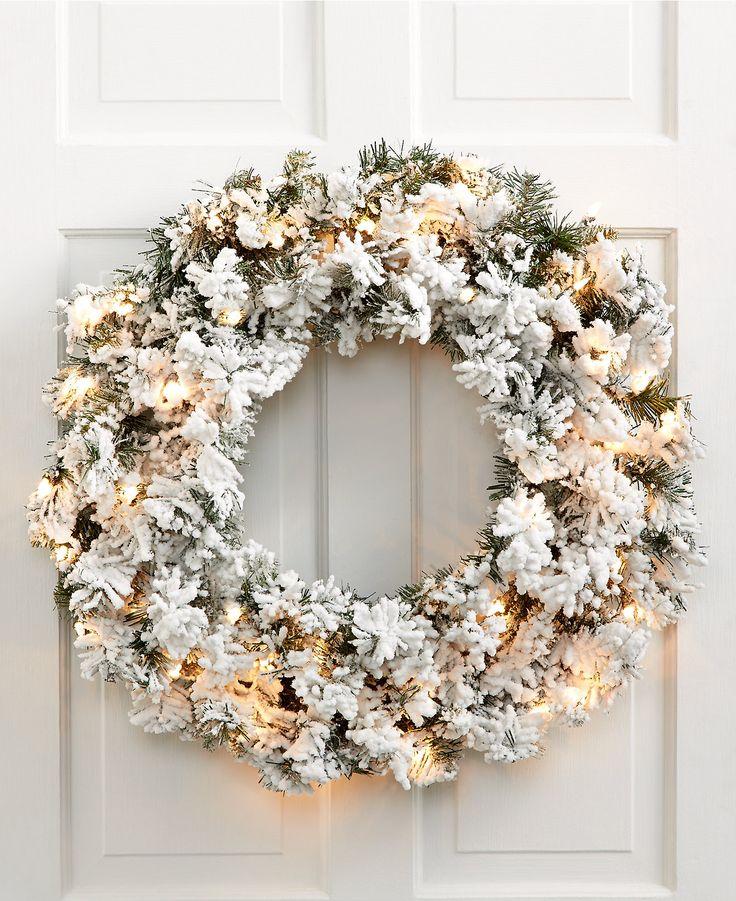 Flocked Norway Wreath                                                                                                                                                                                 More