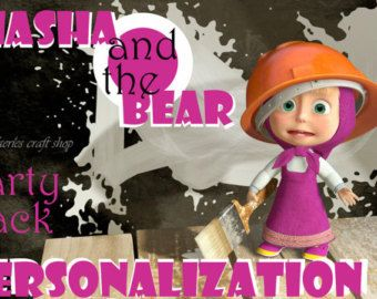 Masha y el oso de dibujos animados por WildFairiesCraftShop en Etsy