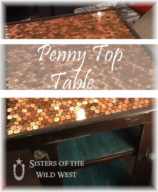 Penny Tiled Table I Think I Might Re Finish Our Beer Pong Table This