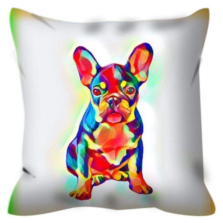 Outdoor Pillow with French Bulldog Puppy