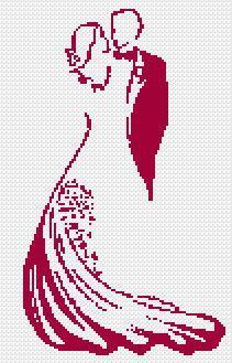"Marcy's Musings Look at this beautiful cross-stitch pattern! It's called ""wedding,"" but it would be lovely for Valentine's Day too. And you still have time to make it. For the pattern, click here. The page is in French, but you can easily translate it. (I used the Chrome browser, and it asked me"