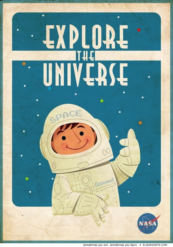 Vintage NASA poster - explore the universe | retro posters ...