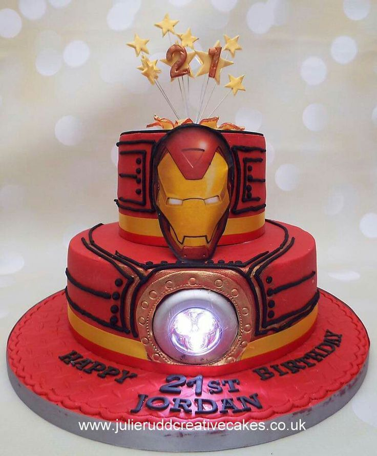 Ironman cake with a light Cakes Pinterest Ironman ...