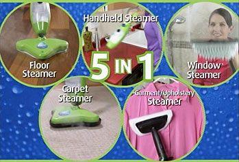 All Purpose 5 in 1 Steam Cleaner  Floor Cleaner, Carpet Steamer, Hand-Held Steamer, Window Cleaner & Garment Steamer