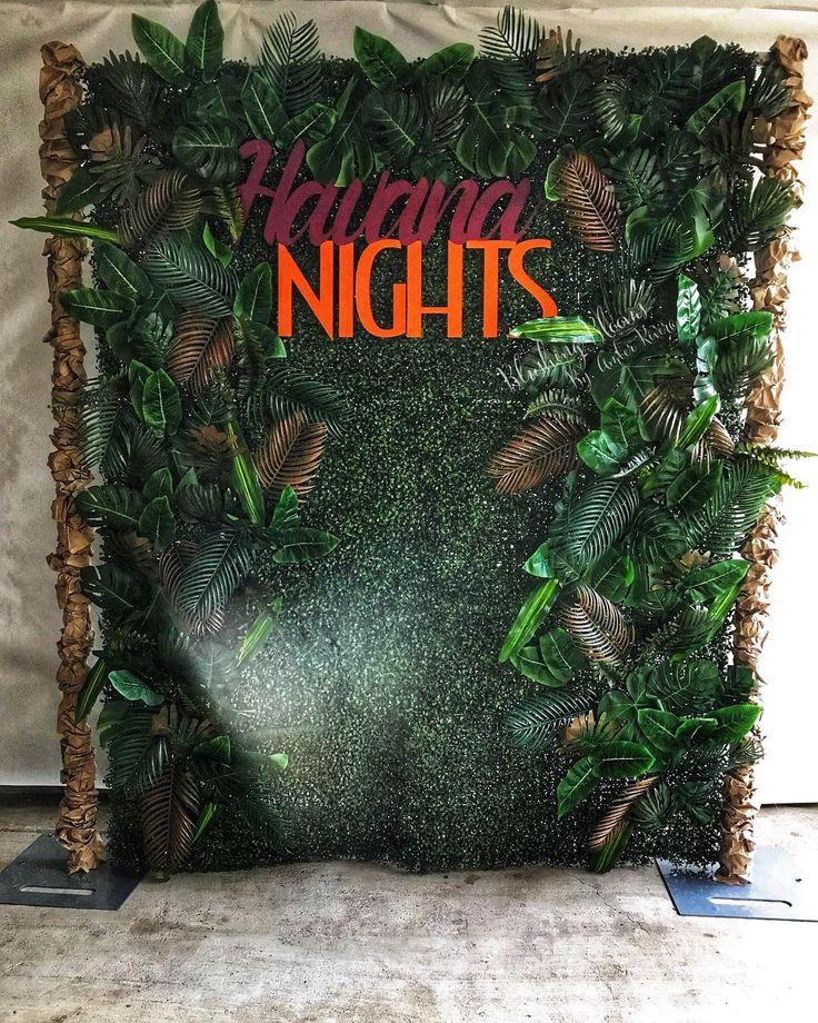 Photo Wall, Havana Nights, Tropical Theme, Party Backdrops