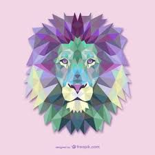 Résultats de recherche d'images pour «animales dibujados con figuras geometricas leon»