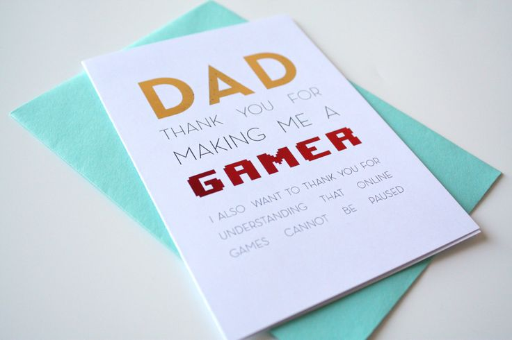 Father's Day Card - Thank you for making me a gamer thank you for understanding that online games cannot be paused de la boutique MySweetPaperCard sur Etsy