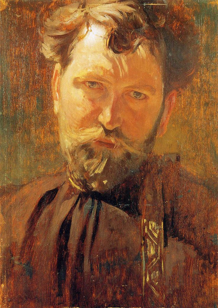 Self-Portrait, 1899  Alphonse Mucha: Alfons Mucha, Art Nouveau, Selfportraits, Alphonse Maria, Alphon Mucha, Self Portraits, Artnouveau, Maria Mucha, Alphonse Mucha