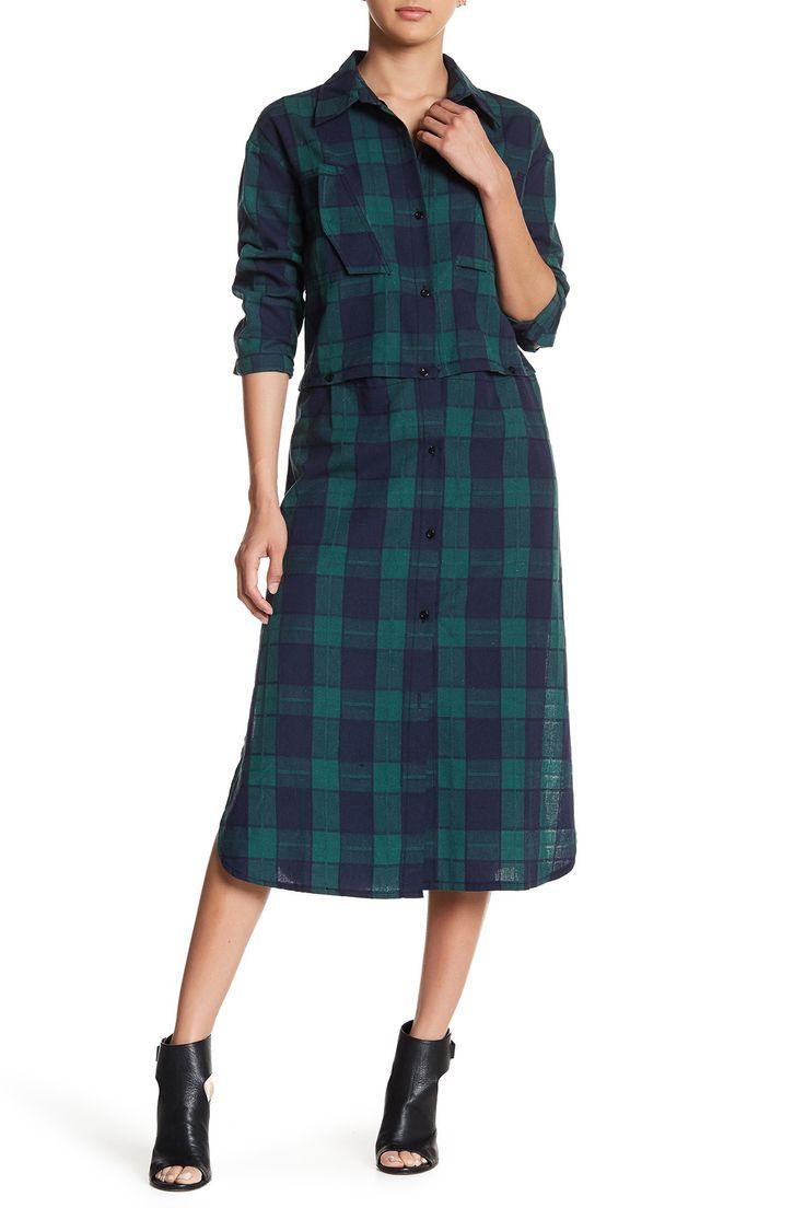 Adjustable Plaid Shirt Dress by TOV on @HauteLook