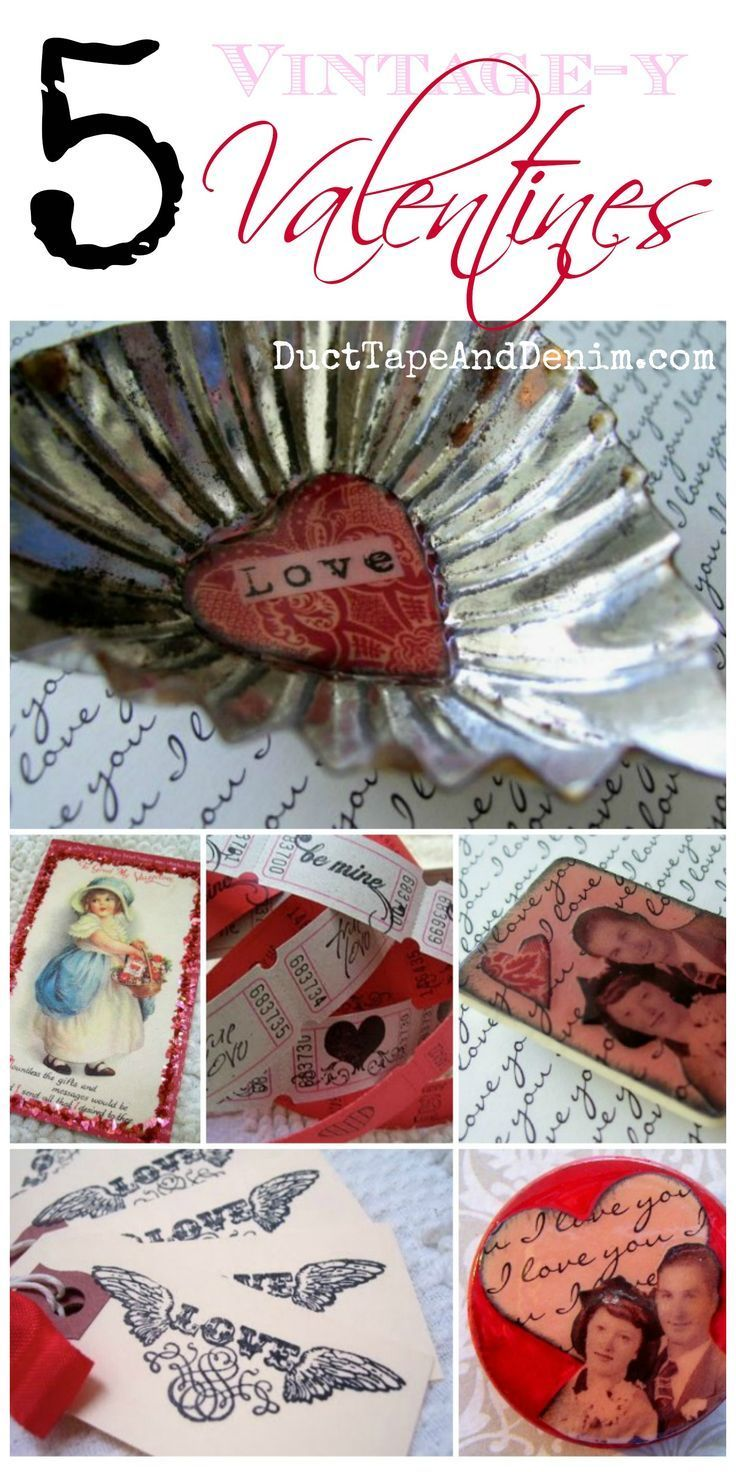 5 vintagey Valentine projects from my blog. | http://DuctTapeAndDenim.com