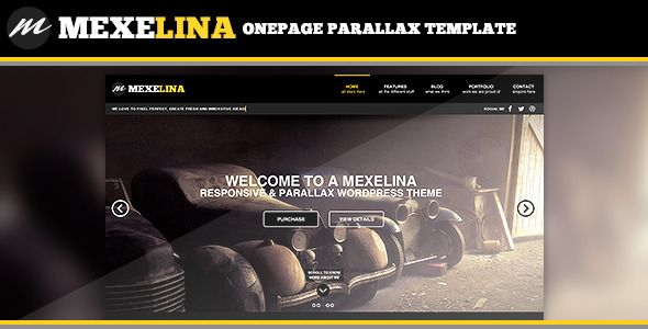 Mexelina - Onepage Parallax Template / UPDATED: Added new Blog Post Page..