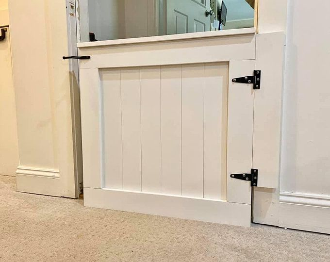Custom Wooden Tv Frame With Modern Barn Door Style Hardware Etsy In 2020 Baby Gate For Stairs Baby Gates Dutch Doors Diy