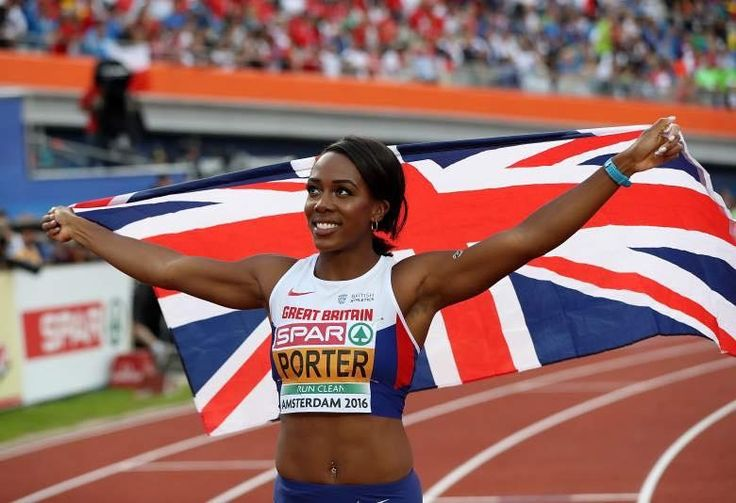 Member of AKA1908 Tiffany Porter representing Great Britain in Rio2016