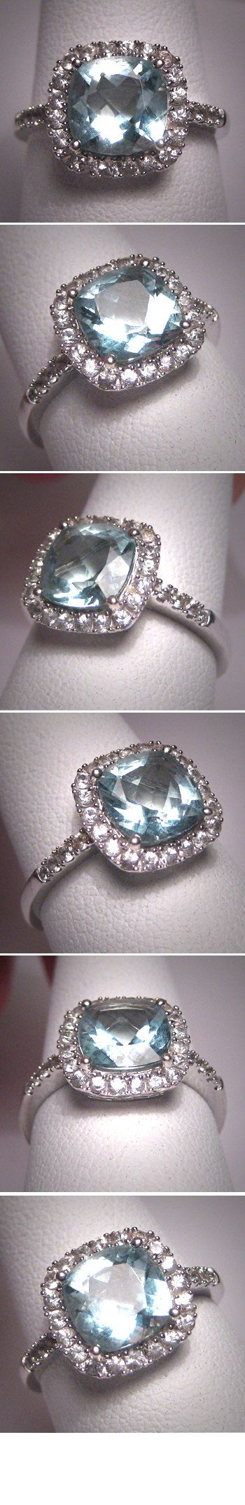 Vintage Aquamarine Wedding Ring