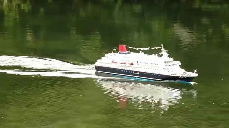 船舶模型倶楽部 黒潮   TV番組収録のための 臨時走航。