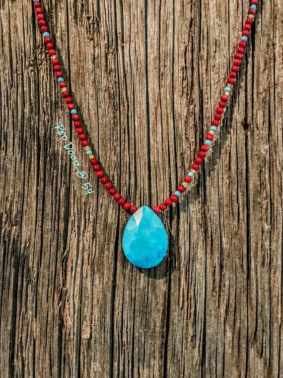 Southwester+#beaded #Choker #Coral #Gemstone #jewelry #Necklace #necklaces #Southwester #Turquoise #Women