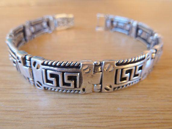 Handmade  bracelet silver braceletblack men's by accessoriesformen